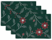 DII Placemat Embroidered Poinsetta (Set of 4) - 1