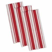 Design Imports CAMZ35819 Tomato Stripe Gourmet Dishtowel Set - Set of 3 - 1
