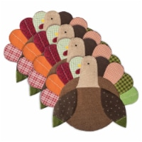 Design Imports CAMZ35851 Turkey Embroidered Placemat Set - Set of 4