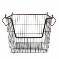 DII Metal Basket Bronze Rectangle Large