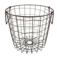DII Metal Basket Bronze Round Small