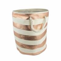 DII Paper Bin Stripe Copper Round Small - 1
