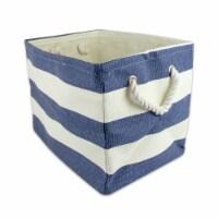 DII Paper Bin Stripe Nautical Blue Rectangle Small - 1
