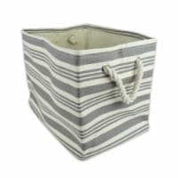 DII Paper Bin Urban Stripe Gray Rectangle Medium - 1