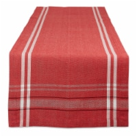 Dii Red Chambray French Stripe Table Runner 14X72 - 1