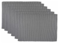 DII Gray Ribbed Placemat (Set of 6)