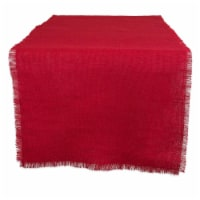 Design Imports CAMZ36666 15 x 74 in. Tango Red Jute Table Runner