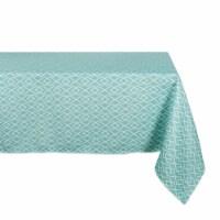 DII Aqua Diamond Outdoor Tablecloth - 1
