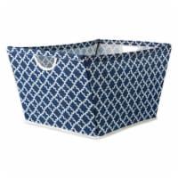 DII Polyester Bin Lattice Nautical Blue Trapezoid Medium - 1