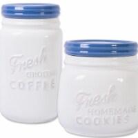 Design Imports CAMZ37191 Blueberry Ceramic Cookie & Coffee Jar - Set of 2 - 1