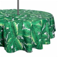 DII Banana Leaf Outdoor Tablecloth With Zipper 52 Round - 1