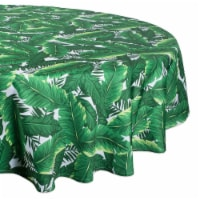 DII Banana Leaf Outdoor Tablecloth 60 Round