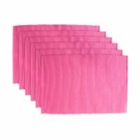DII Flamingo Ribbed Placemat (Set of 6)