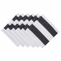 Design Imports CAMZ37541 Black & White Dobby Stripe Napkin - Set of 6 - 1