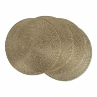 DII Metallic Gold Round Polypropylene Woven Placemat (Set of 4)
