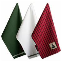 Design Imports Assorted Christmas Fireside Embellished Dish Towels Set - Set of 3