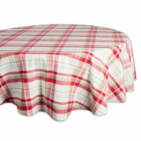 DII Orchard Plaid Tablecloth 70 Round - 1