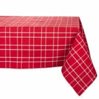 DII Holly Berry Plaid Tablecloth - 1