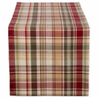 Design Imports CAMZ37779 14 x 72 in. Give Thanks Plaid Table Runner