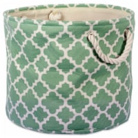 DII Polyester Bin Lattice Bright Green Round Medium - 1