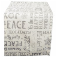 DII Silver Christmas Collage Table Runner