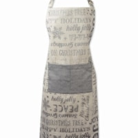 Design Imports Silver Christmas Collage Chef Apron