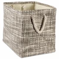 DII Paper Bin Tweed Gray Rectangle Medium - 1