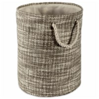 DII Paper Bin Tweed Gray Round Small - 1