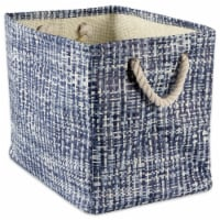 DII Paper Bin Tweed Nautical Blue Rectangle Large - 1