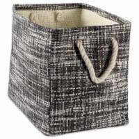 DII Paper Bin Tweed Black Rectangle Large - 1