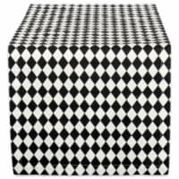 DII Black And Cream Harlequin Print Table Runner - 1