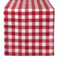 DII Red Check Outdoor Table Runner - 1