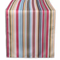 DII Summer Stripe Outdoor Table Runner