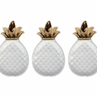 Design Imports CAMZ38771 Gold Pineapple Plate, Small - Set of 3 - 1