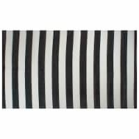 DII Black/White Stripe Outdoor Rug
