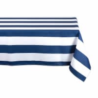 DII Nautical Blue Cabana Stripe Outdoor Tablecloth