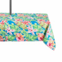DII Summer Floral Outdoor Tablecloth With Zipper - 1