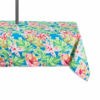 DII Summer Floral Outdoor Tablecloth With Zipper
