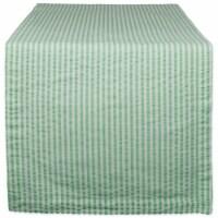 Design Imports CAMZ38950 14 x 72 in. Bright Green Seersucker Table Runner