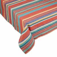 European Soaps Verano Stripe Tablecloth 52 in x 52 in - 52 x 52 in