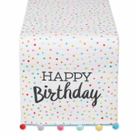 European Soaps Happy Birthday Embellished Table Runner - 1 ct