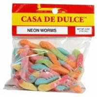 Casa De Dulce Neon Worms - 4 OZ