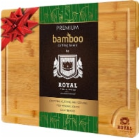 EXTRA LARGE Organic Bamboo Cutting Board with Juice Groove - 18 x 12