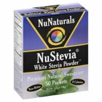 NuNaturals NuStevia White Stevia Powder - 50 ct
