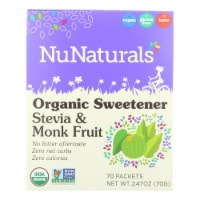 Nunaturals - Stevia And Monk Fruit - 1 Each - 70 CT - 70 CT