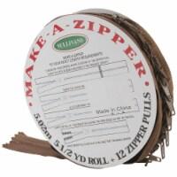 Make-A-Zipper Kit 5-1/2yd-Brown