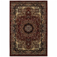 7 ft. 9 in. x 9 ft. 5 in. Grace Rectangle Area Rug, Red & Black