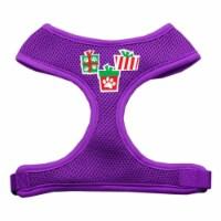 Presents Screen Print Soft Mesh Harness  Purple Extra Large - 1