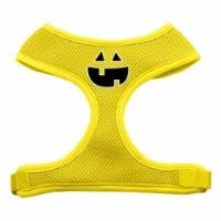 Pumpkin Face Design Soft Mesh Harnesses Yellow Medium - 1