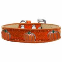 Pumpkin Widget Ice Cream Dog Collar, Orange - Size 12 - 1